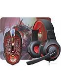 Мышь + коврик + наушники Defender DragonBorn MHP-003