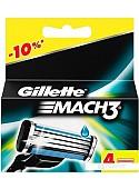 Сменное лезвие Gillette Mach3 (4 шт)