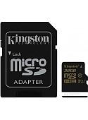 Карта памяти Kingston microSDHC UHS-I (Class 10) 32GB + SD адаптер (SDCA10/32GB)