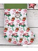 Сапог для подарков Зимнее волшебство С Новым Счастьем Носок 30 см (белый)