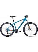Велосипед Forward Apache 27.5 3.2 disc р.21 2021 (голубой)